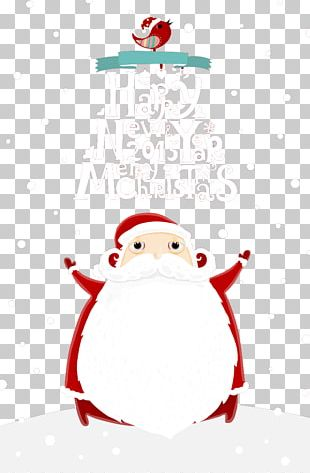 Santa Claus Christmas Card Gift Christmas Decoration PNG