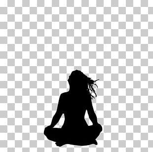 Yoga Silhouette Stencil PNG