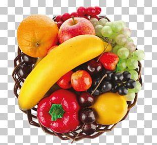 Fruit Basket Food Wicker PNG