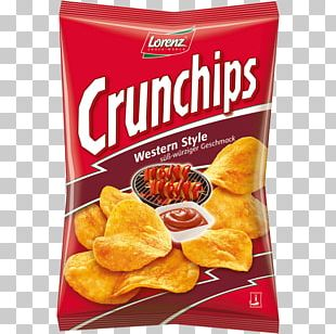 Lorenz Snack-World Crunchips Barbecue Potato Chip Food PNG