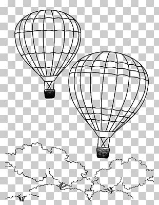 Colouring Pages Coloring Book Hot Air Balloon Drawing PNG