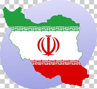 Flag Of Iran Map PNG