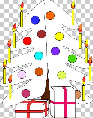 Line Christmas Tree Throw Point PNG