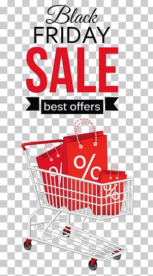 Shopping Cart Black Friday PNG