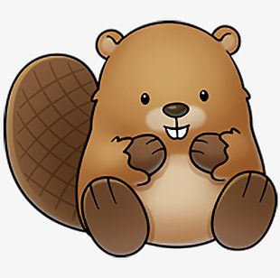 Brown Cute Beaver PNG