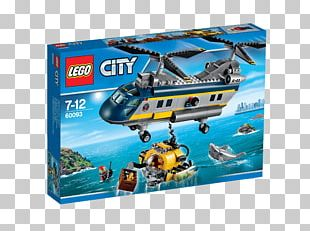 LEGO 60093 Deep Sea Helicopter Lego City PNG