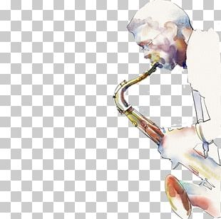 Jazz Saxophone Painting Art Painter PNG