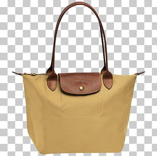Longchamp Handbag Tote Bag Beige PNG