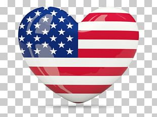 Flag Of The United States US National Credit Solutions Independence Day Heart PNG