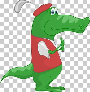 Crocodile Alligator Golf Cartoon PNG