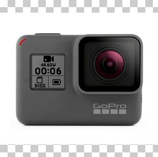 GoPro HERO6 Black Action Camera 4K Resolution PNG