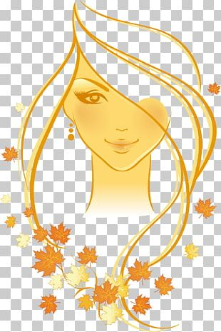Woman Autumn Cartoon Illustration PNG