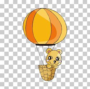 Cartoon Hot Air Balloon Illustration PNG