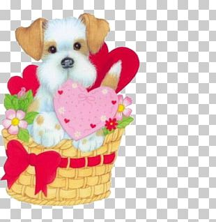 Dog Puppy Valentines Day Heart PNG