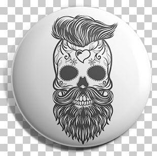 Calavera T-shirt Skull Beard Hipster PNG