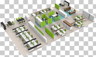Office Space Planning Interior Design Services 3D Floor Plan PNG