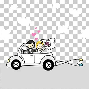 Cartoon Marriage Illustration PNG