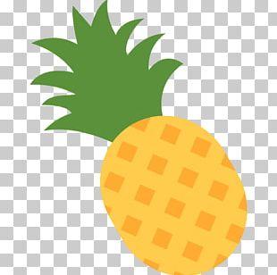 Emoji Pineapple Upside-down Cake Pizza PNG
