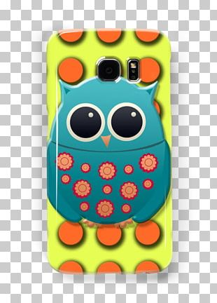 Owl IPhone 8 Yellow Blue Green PNG