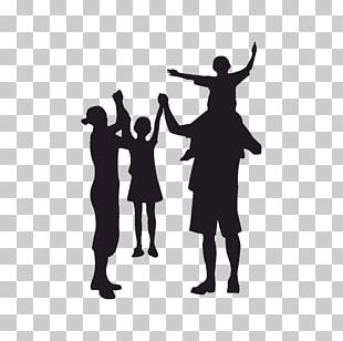 Family Reunion Child Father Silhouette PNG