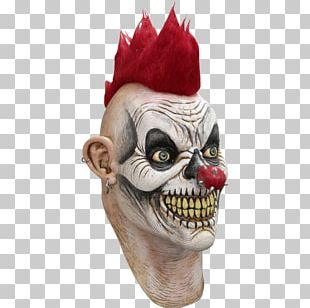 2016 Clown Sightings Latex Mask Halloween Costume PNG
