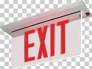 Lighting Light-emitting Diode LED Lamp Exit Sign PNG