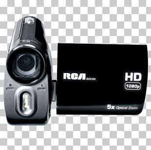 Digital Cameras Video Cameras RCA Ez5100r Small Wonder Palm Style HD 1080p Digital Camcorder (Black/Slver) Camera Lens PNG