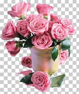 Desktop Flower Bouquet Rose Pink Flowers PNG