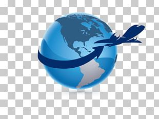 Airplane Globe Logo Computer Software PNG