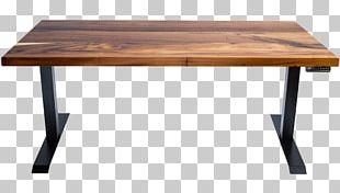 Standing Desk Wood Stain Hardwood PNG