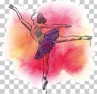 Dance Ballet Art Poster PNG