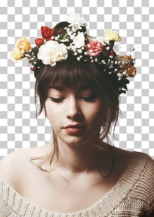 Crown Flower Wreath Headband Girl PNG
