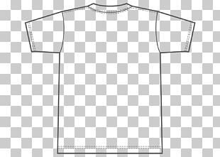 T-shirt Template White Sleeve PNG
