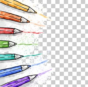 Colored Pencil Drawing Watercolor Painting PNG