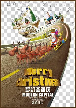 Santa Claus Christmas Poster Font PNG