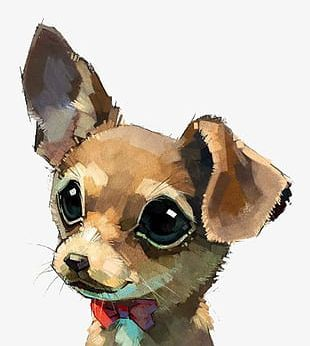 Hand-painted Watercolor Dog PNG