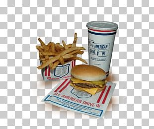 All American Hamburger Drive In Cuisine Of The United States French Fries Fast Food PNG