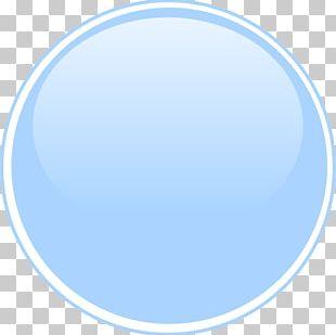 Light Blue Circle Button PNG