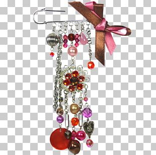 Earring Christmas Ornament Body Jewellery Pink M PNG