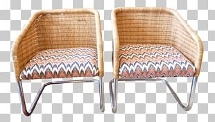 Chair Garden Furniture Wicker Armrest PNG