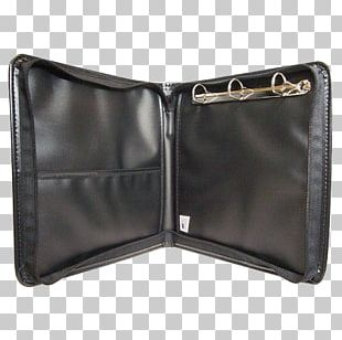 Ring Binder Wallet Loose Leaf Coin Purse Bag PNG