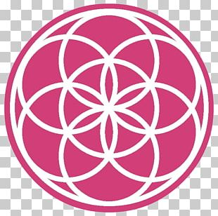 Sacred Geometry Overlapping Circles Grid Seed Logo PNG
