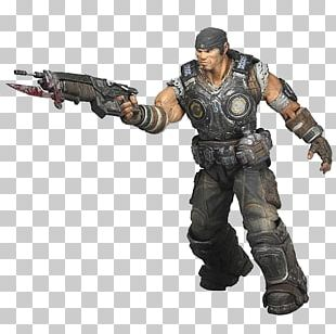 Gears Of War 3 Action Figure Marcus Fenix Toy PNG