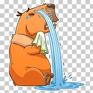 Capybara Telegram Sticker Messaging Apps PNG
