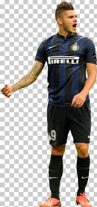 Mauro Icardi Inter Milan Jersey Rendering Football Player PNG