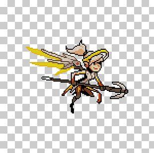 Overwatch Mercy Pixel Art Tracer PNG