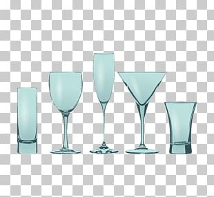 Wine Glass Blue Cup PNG
