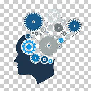 Human Brain Gear Train Mind PNG