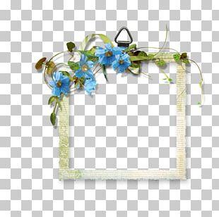 Blue Floral Border PNG