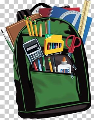 Backpack Education School Supplies Bag PNG